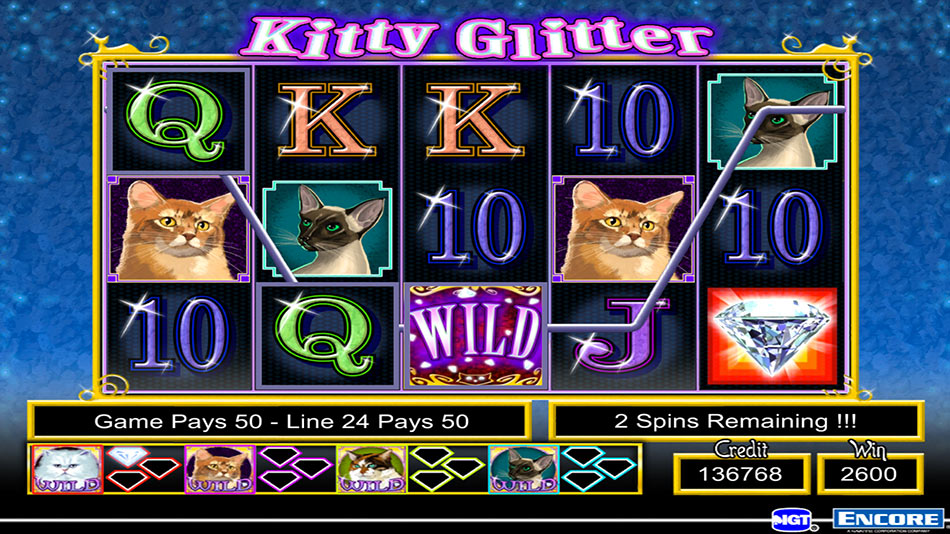 IGT Slots Kitty Glitter screen shot