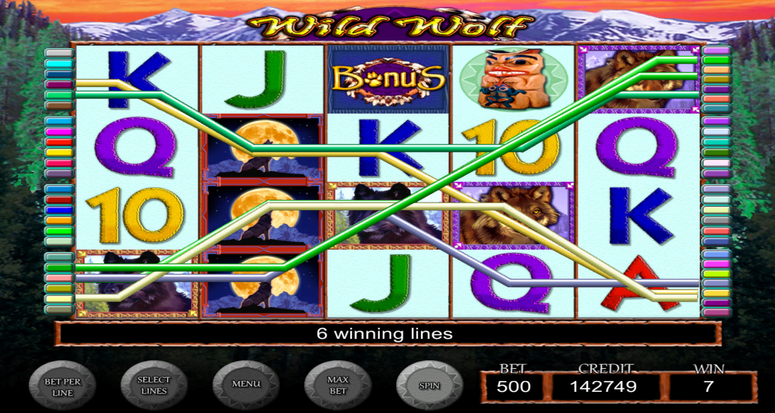 IGT Slots Wild Wolf screen shot