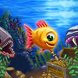 Insaniquarium Deluxe - Feed fish, collect coins, shoot aliens, and more in Insaniquarium Deluxe! - logo