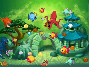 Insaniquarium Deluxe screen shot