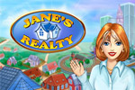 Buy land, build houses, and manage a realty company in Jane's Realty!