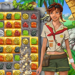 Jewel Keepers: Easter Island - Revela los secretos de un paraíso match-3 en Jewel Keepers: ¡Easter Island! - logo