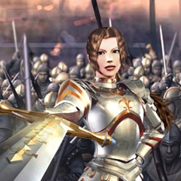 Wars and Warriors: Joan of Arc - Play through the most intense battle scenarios of medieval Europe in this third-person 3D epic saga. Play Wars and Warriors: Joan of Arc now! - logo