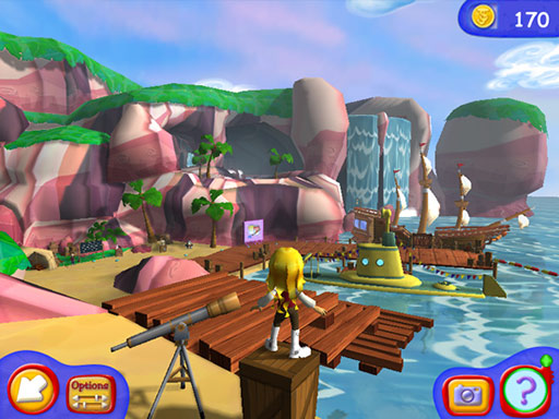 JumpStart Advanced K-2 Lost Island Training screen shot