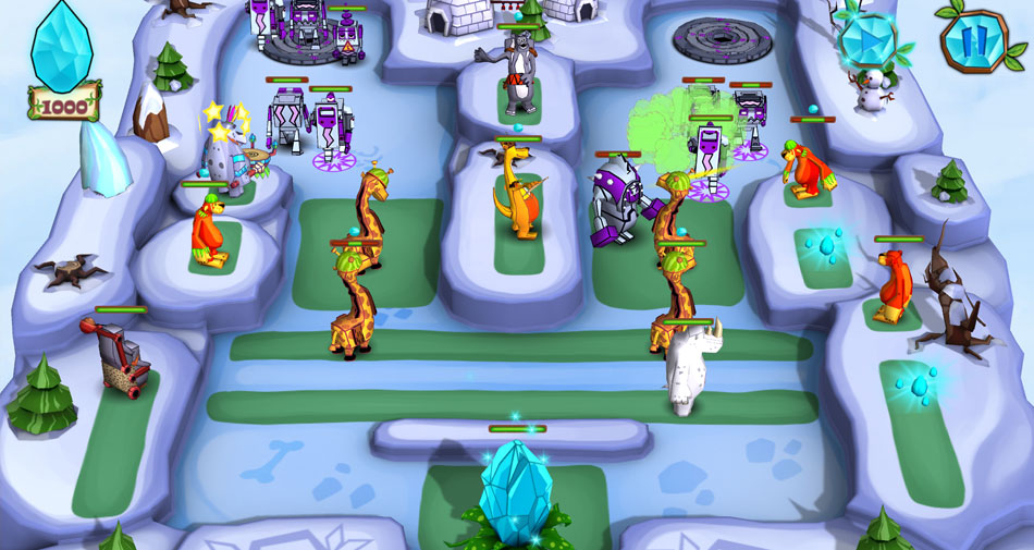 Jungle vs Droids screen shot