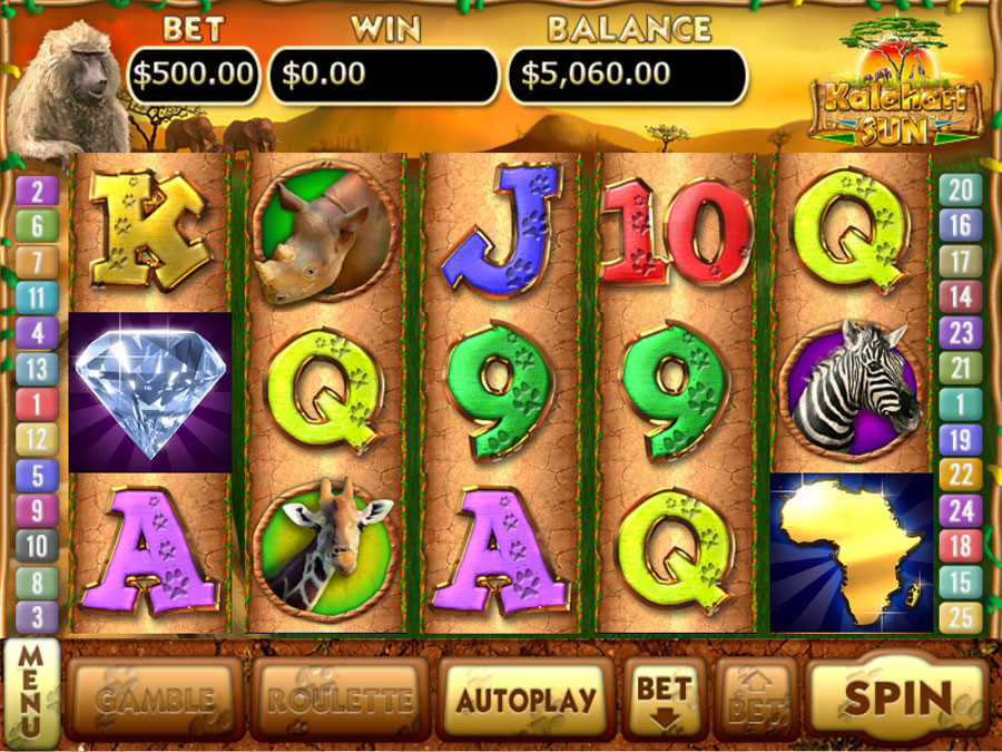 Kalahari Sun Slots screen shot