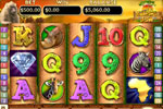 Visit Africa for a new adventure in slot machine fun in Kalahari Sun Slots!