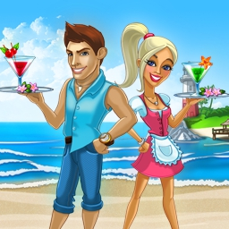Katy and Bob: Way Back Home - When vacations go awry, it is your turn to help. In Katy and Bob: Way Back Home, experience what it takes to build up a tropical bar! Play today! - logo