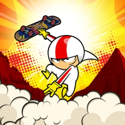 Kick Buttowski: Stuntastic - Perform epic stunts in a gutsy race with the world's greatest daredevil in the awesome arcade game, Kick Buttowski: Stuntastic! - logo