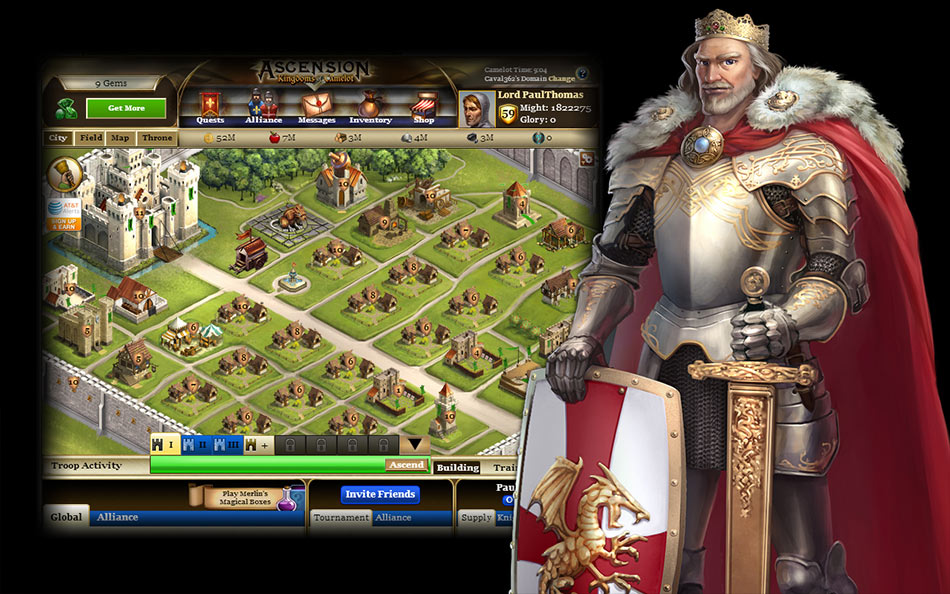 Kingdoms of Camelot screen shot