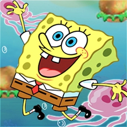 SpongeBob SquarePants Krabby Quest - Scour the sea floor and to find Plankton's patties. - logo