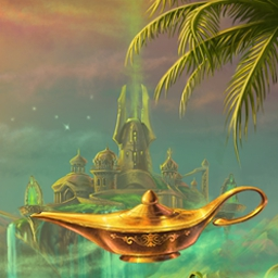 Lamp of Aladdin - Help Aladdin and the Genie find the Tree of Life in Lamp of Aladdin! - logo