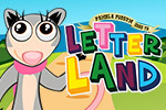 Your child will travel around Letter Land playing educational alphabet memory games in Pamela Possum™ Goes To Letter Land.