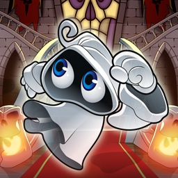 Little Ghost - Looking for some Halloween fun? Little Ghost features 15 levels, 3 powerful bosses and hours of fun. Play this classic arcade game today! - logo