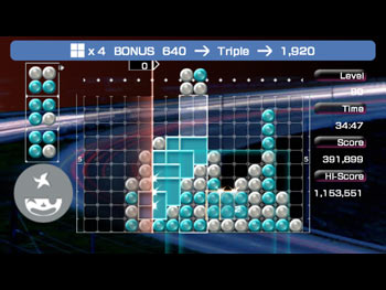Lumines screen shot