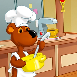 Lunch Rush HD - Snowy the Bear is determined to win the annual restaurant competition in Lunch Rush HD, a fast-paced time management game! - logo