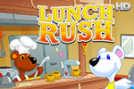 Snowy the Bear is determined to win the annual restaurant competition in Lunch Rush HD, a fast-paced time management game!