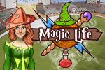 Take part in a magician's tournament in Magic Life! Create and customize your character, then defeat other magicians to advance.