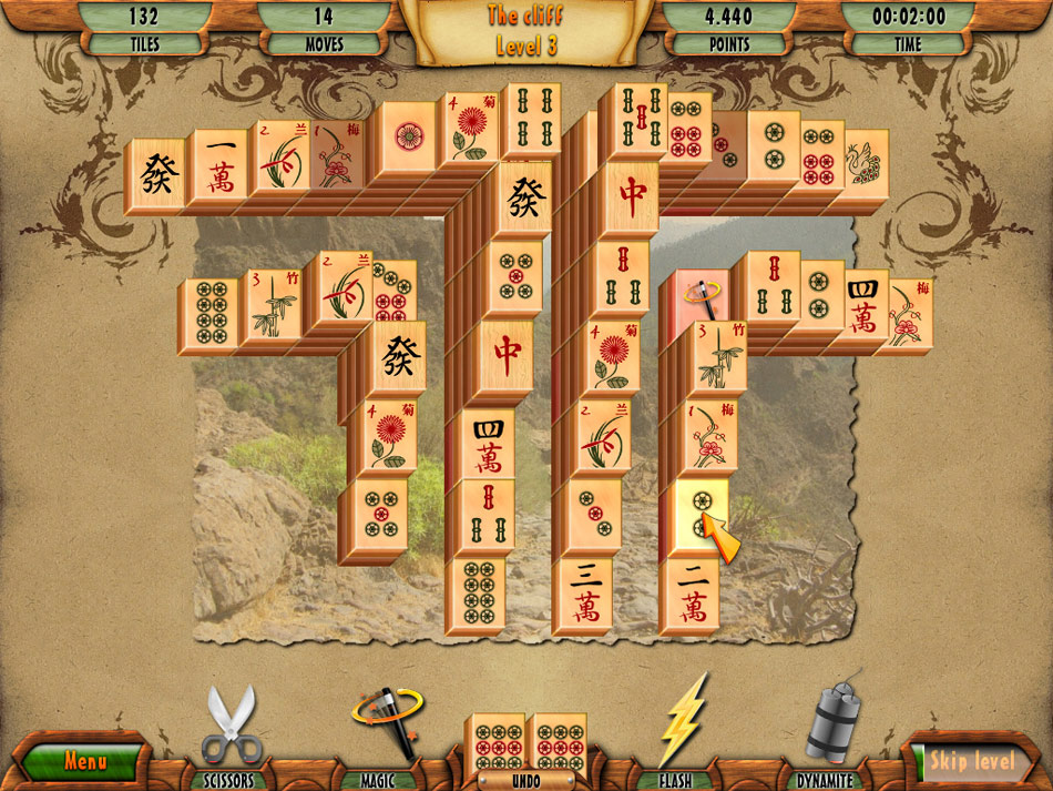 3D Mahjong Deluxe screen shot