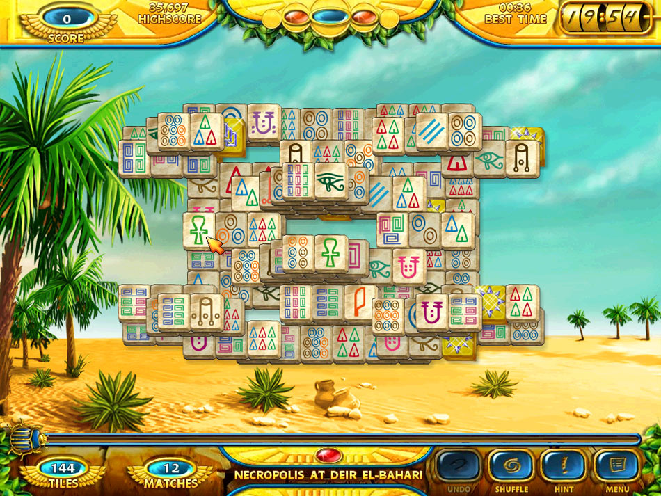 Mahjongg - Ancient Egypt screen shot