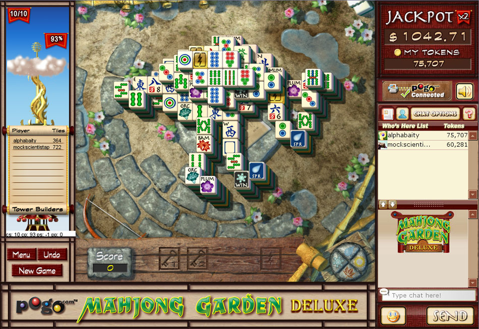 Mahjong Garden Deluxe screen shot