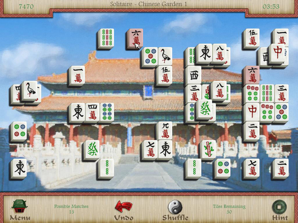 Mahjongg: Legends of the Tiles screen shot
