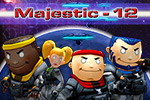 Run and gun like a pro!  Battle your way through secret installations and strange alien worlds in Majestic-12 - a fun, 3D side-scroller action game.