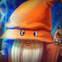 Mana Crusher - Gather a team of wizards and complete over 100 puzzles in the magical Match 3 world of Mana Crusher! - logo