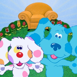 Blue's Clues: Meet Blue's Baby Brother - Help Joe and Blue search Puppyville to find Blue's baby brother! Use your sharp eye to spot clues of different shapes, numbers, letters, and colors. - logo