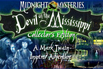 Midnight Mysteries: Devil on the Mississippi is a hidden object game starring Mark Twain's ghost that features a controversial new mystery!