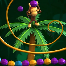 Monkey Gems - BenBen the monkey needs your help fighting off snakes in Monkey Gems! - logo