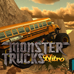 Monster Trucks Nitro - Race and jump extreme trucks on thrilling tracks in Monster Trucks Nitro! - logo