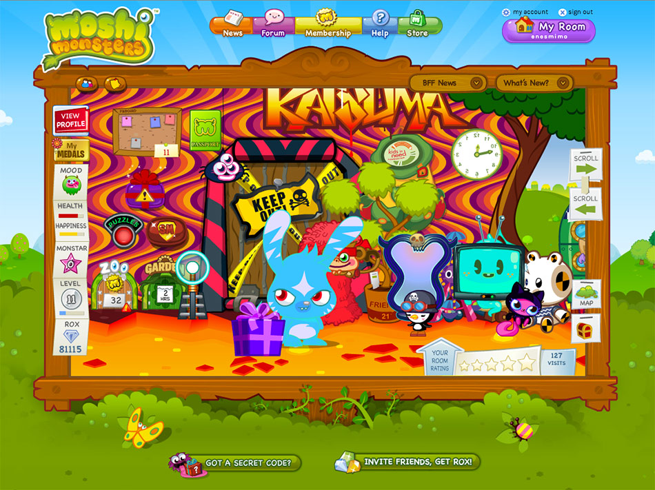 Moshi Monsters screen shot