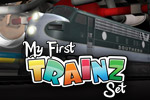 Drive miniature trains on tracks all over the house in My First TRAINZ Set!