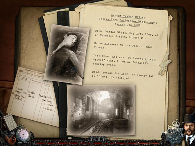 Mystery Murders: Jack the Ripper screen shot