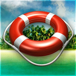 Mystery Solitaire - Secret Island - You're not a stowaway - you were swept away!  Match cards for clues! - logo