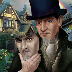 Mystery Trackers: The Void - Help the Mystery Trackers find 3 missing celebrities in a mysterious mansion in the hidden object game Mystery Trackers: The Void! - logo