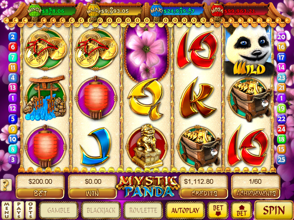 Mystic Panda Slots screen shot