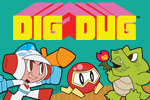 Pop Pookas and dig for Fygars in DIG DUG, Namco's classic arcade hit!