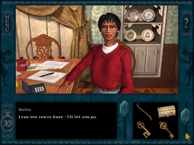 Nancy Drew: Message in a Haunted Mansion screen shot