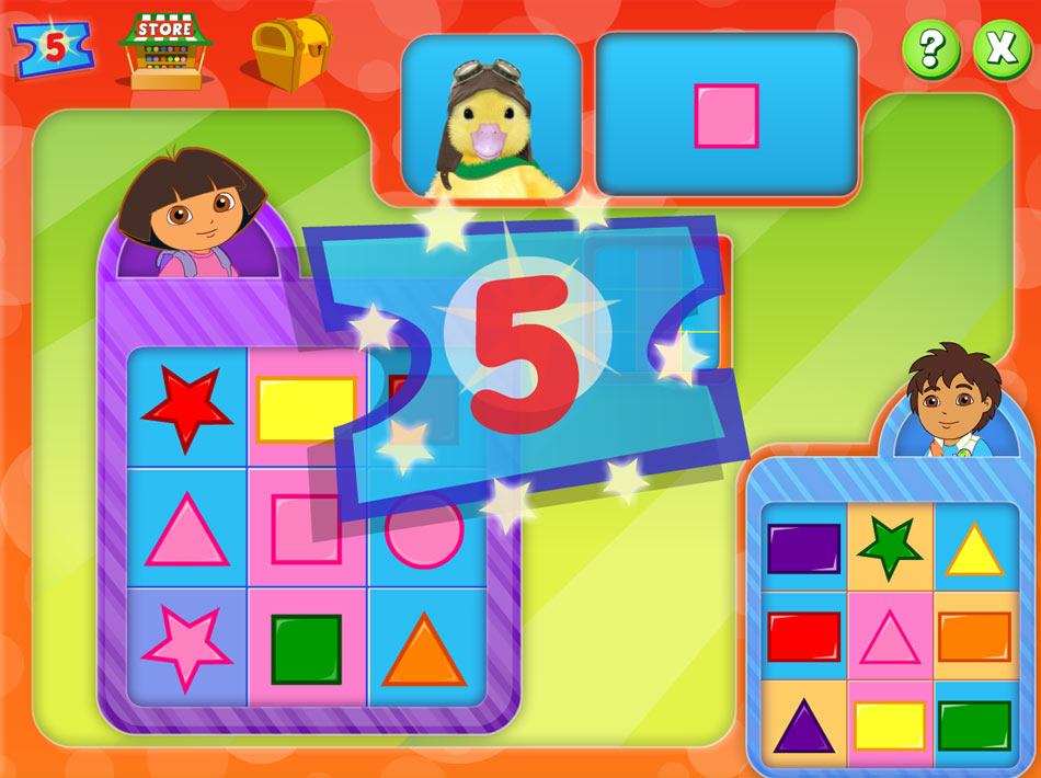 Nick Jr Bingo screen shot