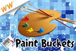 Use colored paint to erase the canvas. Play the most original game to hit the Web in years!  Compete for cash prizes in Paint Buckets - a cash game!