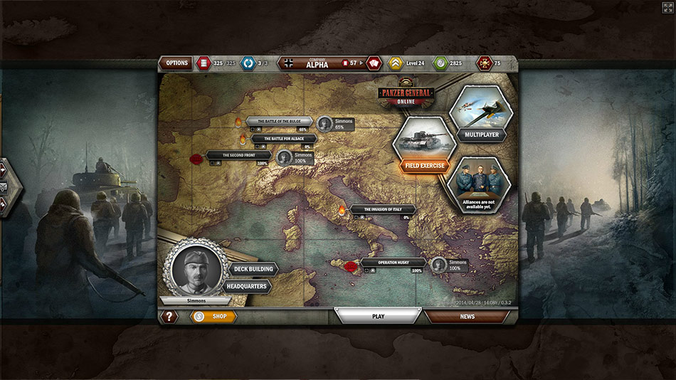 Panzer General Online screen shot