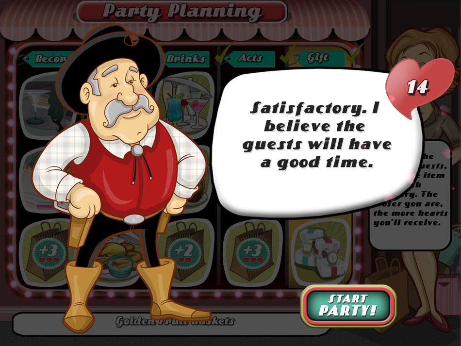 Party Planner screen shot