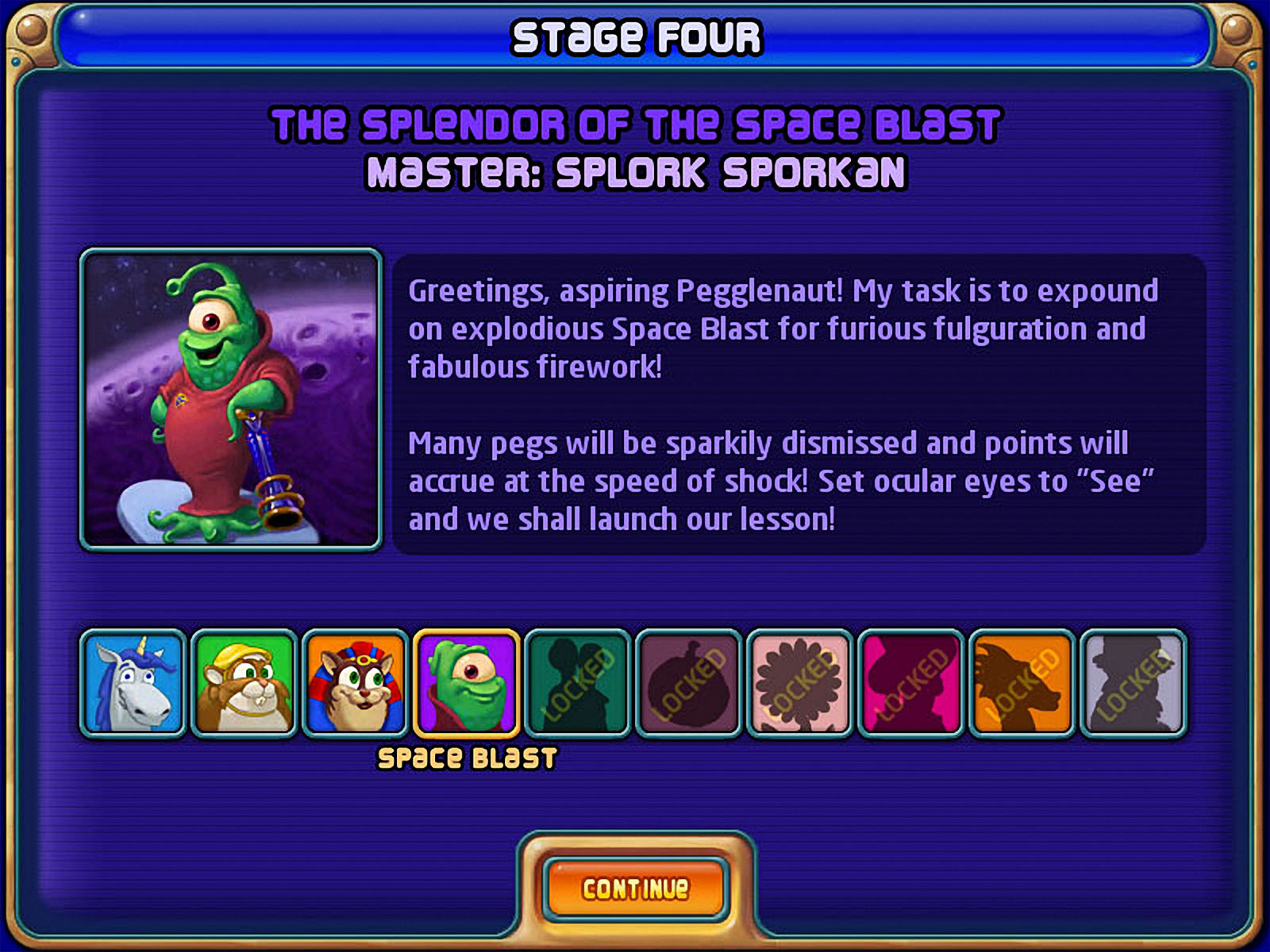 Peggle screen shot