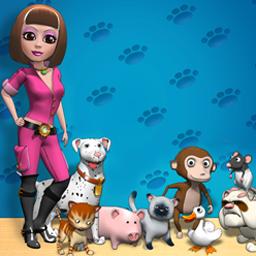 لعبة الحيوانات الاليفه مع كاتى