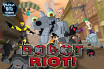 The city is being invaded by Dr. Doofenshmirtz's robots! Don't let any Normbots get by you in Phineas and Ferb: Robot Riot!