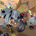 Phineas and Ferb: Robot Riot - logo