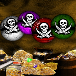 Pirate Poppers - Aim your cannons and collect treasures in 77 levels of fun! - logo