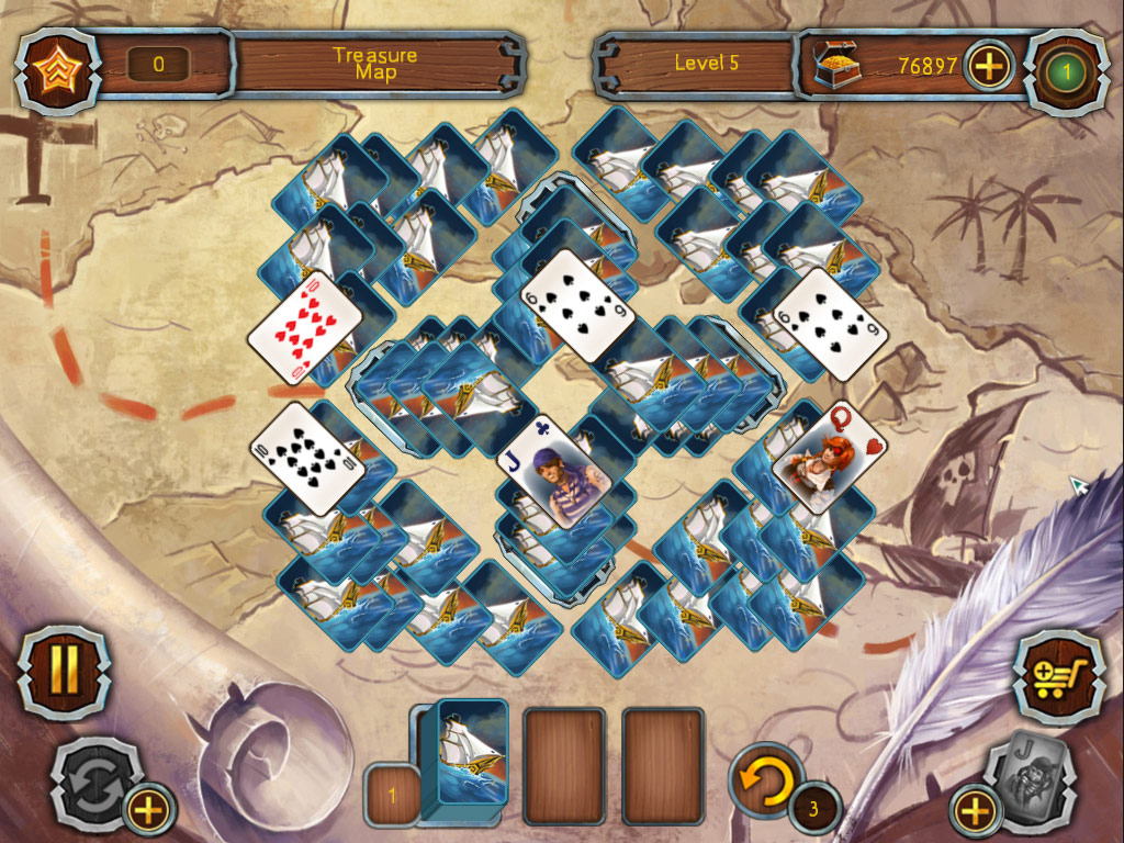 Pirate Solitaire screen shot